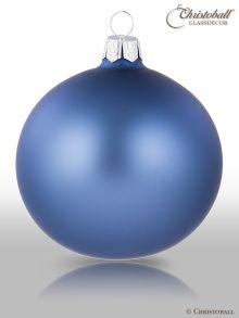 Weihnachtskugel Jeansblau seidenmat