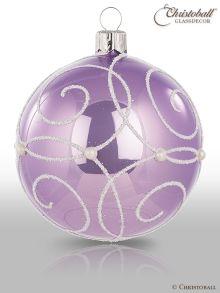 Perelle Christbaumkugel Lavendel-Lila