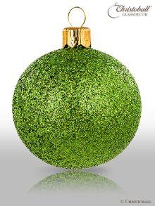 Pure Glamour Weihnachtskugel Gruen