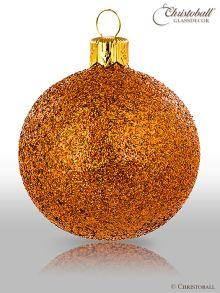 Pure Glamour Weihnachtskugel Orange