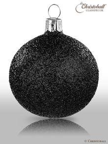 Pure Glamour Weihnachtskugel Schwarz