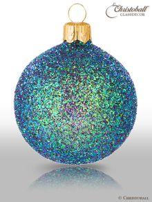 Weihnachtskugel Hologramm Special-Glam Aqua