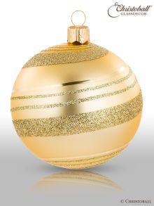 Piroette Weihnachtskugel Gold
