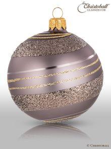 Pirouette Weihnachtskugeln Greige, Grau-Beige (4er)