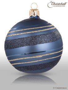 Pirouette Weihnachtskugel Jeans-Blau