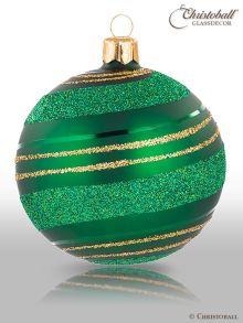 Pirouette Weihnachtskugel Smaragd-Grün