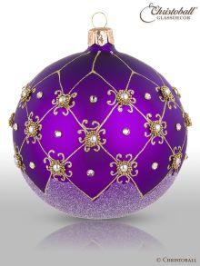 Prächtig & Pompös Christbaumkugel Purple Royal