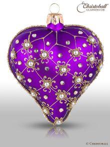 Weihnachtsform Herz Purple Royal