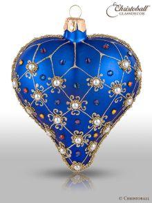 Weihnachtsform Herz Royal-Blau
