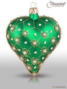 Weihnachtsform Herz Smaragd-Grün