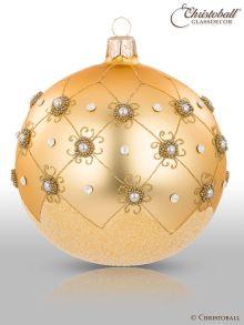 Prächtig Pompös Christbaumkugel Gold