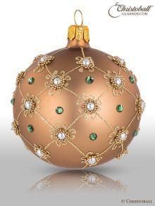 Prächtig & Pompös Ø 70mm Christbaumkugeln - Azteken-Gold