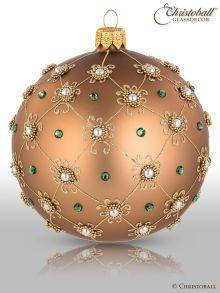 Prächt Pompös Christbaumkugel Azteken Gold