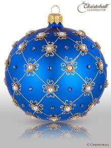Prächtig & Pompös Christbaumkugel Royal-Blau