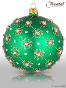Prächtig & Pompös Christbaumkugel Smaragd-Grün