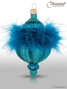 Pudre de Luxe - Christbaumform, Petrol-Blau