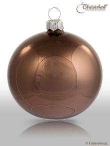 Pure Colour M Weihnachtskugel Smoky-Braun glanz