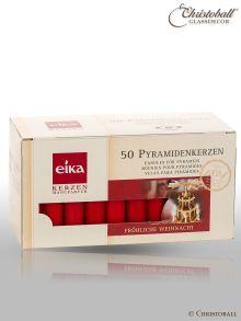 Original Pyramidenkerzen, rot, 50 Stk.