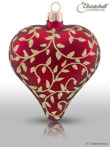 Romeo & Julia Weihnachtsform Herz Bordeaux-Rot
