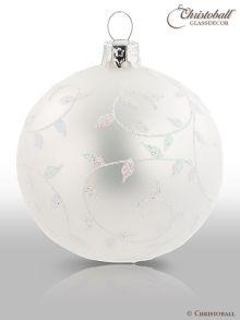 Romeo & Julia Weihnachtskugel Perlenschimmer-Weiss