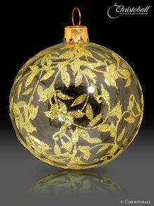 Romeo & Julia Weihnachtskugel Transparent-gold
