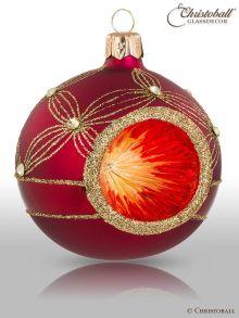 Reflex Weihnachtskugel Bordeaux-Rot