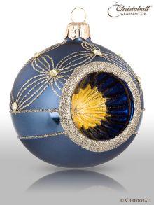 Reflex Weihnachtskugel Jeans-Blau