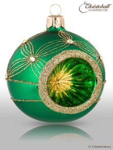 Reflex Weihnachtskugel Smaragd-Grün