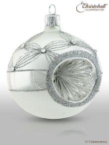 Reflex Weihnachtskugeln, Weiss-Silber2
