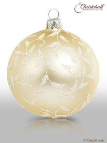 Romeo & Julia Weihnachtskugel Champagne-Weiss