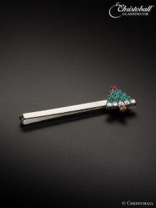 Krawattenschieber Oh Tannenbaum, Swarovski-Kristalle - Grün