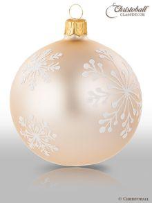 Schneeflöckchen Christbaumkugeln Champagne