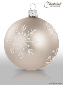 Schneeflöckchen Christbaumkugeln Cosy Grey Grau