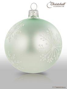 Schneeflöckchen Christbaumkugeln Icy-Mint
