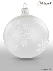 Schneeflöckchen Christbaumkugeln Frost-Weiss