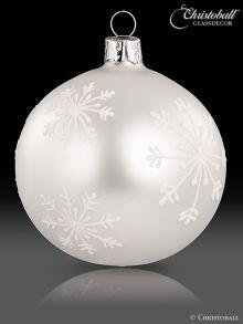 Schneeflöckchen Christbaumkugeln Weiss