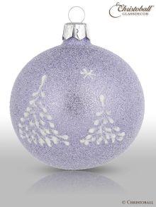 Weihnachtskugel Schneewald / Lavendel-Lila