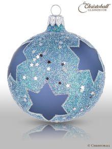 Stars Christbaumkugel blau