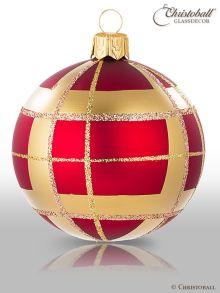Tartan & Karo Weihnachtskugeln Classic-Style