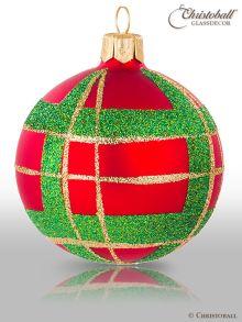 Tartan & Karo Weihnachtskugeln Scottish Style