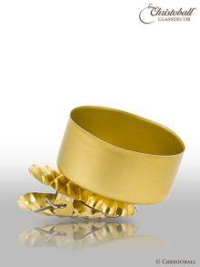 Teelichthalter mit Clip für Weihnachtsbaum Gold Seidenmatt