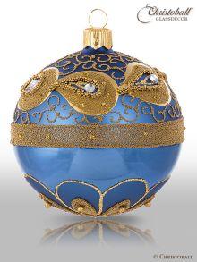Vintage Weihnachtskugeln Blue-Antique