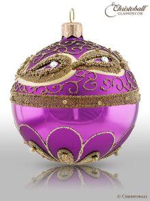 Vintage Weihnachtskugeln Pflaumen-Violet