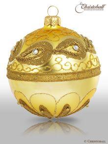 Vintage Christbaumkuge Gold