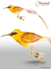 Bekassine - Vogel mit Natur-Federn und Clip