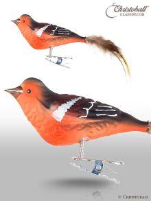 Buchfink - Vogel mit Natur-Federn und Clip