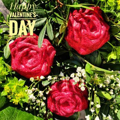 Ein Blumengruß zum Valentinstag